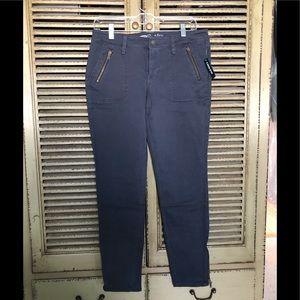 Old Navy Rockstar ankle zip chino pants